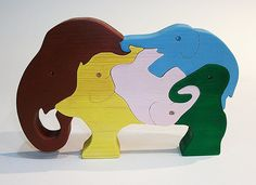 Wooden Elephant Puzzles Handmade Wooden toys by RikmaProducts