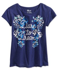 Epic Threads Girls' Dare to Dream T-Shirt, Only at Macy's - Kids & Baby - Macy's