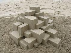 Mesmerizing Modernist Sandcastles By Calvin Seibert