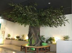 Artificial Trees For Interior Design emejing indoor fake trees pictures interior design ideas Old House Modern Interior, Artificial Trees For Interior Design, astounding InteriorHD Inspiring ideas Fake Indoor Trees, Artificial Plants And Trees, Fake Trees, Artificial Tree, Trees To Plant, Indoor Plants, Banyan Tree Bonsai, Ficus Tree, Large Fake Plants