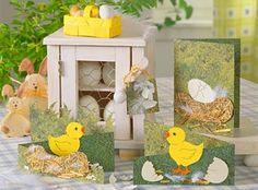 Ostern, basteln, Papier, Pappe, ausschneiden, Kinder, Karte, Grüße, Card, Ostern, Frühling, Küken, selber machen, Dekoration