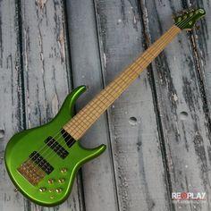 Used - MTD Designs Kingston ZX Custom 5-String Bass (Metallic Green)