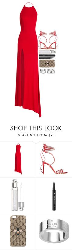 """""""dance"""" by iriskatarina ❤ liked on Polyvore featuring Alexandre Vauthier, Christian Dior, Kat Von D and Gucci"""