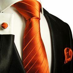 Orange Silk Ties, Neck Ties, Neckwear, Tuxedo Vest Sets, Dress Shirts, Suits and more