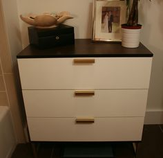 the nightstand is a mini ikea hack of the trysil dresser the trim legs and hardware were. Black Bedroom Furniture Sets. Home Design Ideas