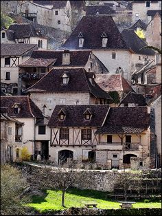 St.Cirq Lapopie, a medieval cliff-side village in the Midi-Pyrénées region of south-western France.  It is located within the regional natural park 'Parc naturel régional des Causses du Quercy' and overlooks the Lot River.