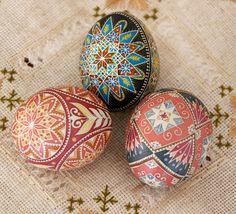 Pysanky on Araucana chicken eggshell
