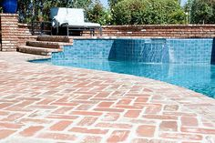 Brick Poolside in Orange County, Ca.