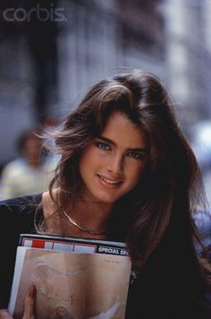 Brooke Shields 1980s- seen her in The Blue Lagoon, so pretty!