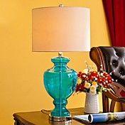 Modern Blue Glass Pot Table Lamp, One Light, ... – AUD $ 177.08