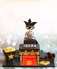 A Bollywood theme party cake done..got inspiration from the party pic.. All the stuff on the cake is handmade wid fondant…loved doin it!