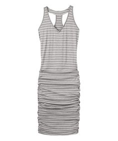 Another great find on #zulily! Gray Heather Striped Tee Racerback Dress #zulilyfinds
