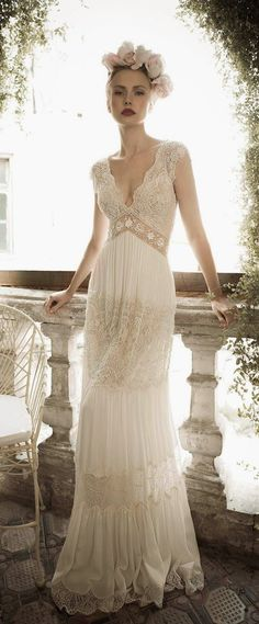 Beach A line Vintage Wedding Dress Plus Size Sexy V neck Backless Wedding Bridal Gown Vestidos De Noiva 2015 Casamento Wedding Dresses 2014, Wedding Attire, Bridal Dresses, Wedding Gowns, Party Dresses, Wedding Venues, Dresses Dresses, Cheap Dresses, Wedding Shoes
