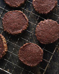 Chocolate Chili Icebox Cookies -  #sweetpaul
