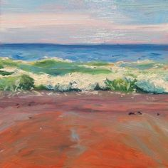 Wave Study, painting by artist Takeyce Walter