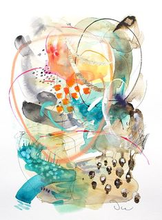 Abstract Watercolor Art, Watercolor Walls, Watercolor Paintings, Original Paintings, Abstract Paintings, Watercolour, Art Triste, Painting Prints, Wall Art Prints