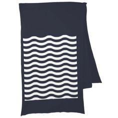 #stripes - #White Blue Wave Navy pattern Customize background Scarf