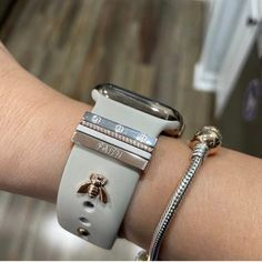 Apple Watch Fitness, Apple Watch Bands Fashion, Cute Apple Watch Bands, Iphone Watch Bands, Fitbit Bands, Infinity Band, Apple Watch Accessories, Black Rhodium, Engraved Rings