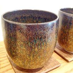 Close up of new obsidian tenmoku glaze by Kimura Noritada. #postcardteas #japan…