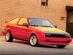 1985 Toyota Corolla with a Supra engine swap