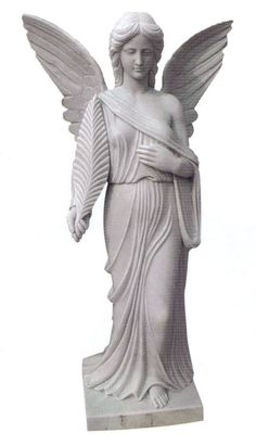This is a beautifully carved Angel of Mercy Statue. Comes in five sizes: 2′, 3′, 4′, 5′, and 6′. Standard material is Gray Granite.