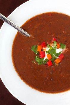 Spicy Black Bean Soup.