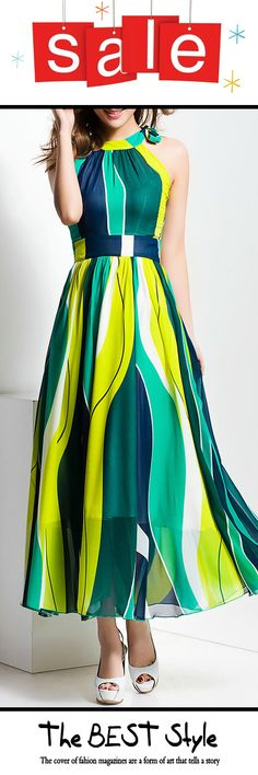 Let Fantastic Be Your Style. Colorful Sleeveless Beach Maxi Dress is Waiting For You! Visit VIPme.com Now!