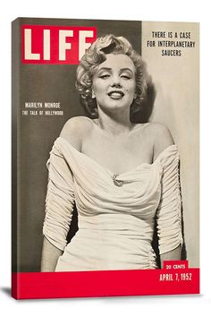 Canvas Print: Life Magazine look behind Marilyn what is the real subject of the magazine :o)