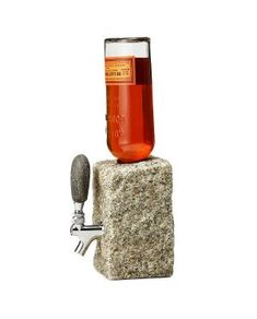 Cobble Stone Booze Dispenser is a novelty cocktail bar centerpiece display that will have your home bar being the talk of the town. If you're a lover of the natural elements then this booze dispenser if for you! Gifts For Dad, Fathers Day Gifts, Guy Gifts, Cool Gifts, Best Gifts, Unique Gifts, Liquor Dispenser, Gadgets, Granite Stone