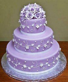 PURPLE WEDDING CAKE....:)