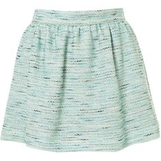 Co-ord Mint Boucle Skirt (1,265 MXN) ❤ liked on Polyvore featuring skirts, mini skirts, bottoms, saias, faldas, mint, green mini skirt, mint mini skirt, mint skirt and green skirt