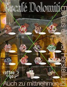 Eis - Eisdiele - DIN A1 Poster/Plakat - Text(Slogan)nach Wunsch - 510 g/m² PVC 7