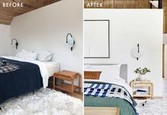 """My Favorite Before And After Vintage Pieces (With Some """"Good To Knows"""" For Vintage Shoppers) - Emily Henderson #vintage #beforeandafter #DIY Guest Bedroom Decor, Bedroom Paint Colors, Decorating Small Spaces, Vintage Shops, Design Trends, Living Room, Furniture, Brick Road, Home Decor"""