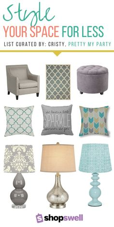 Looking for chic furniture for your new home or apartment? Cristy, blogger of Pretty my Party shares her favorite budget-friendly finds in this home decor collection.