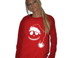 New Mens/womens unisex gildan sweater sweat shirt S-5XL SIZES Santa clause skull jack pumpkin king funny christmas gift 8 colors white ink
