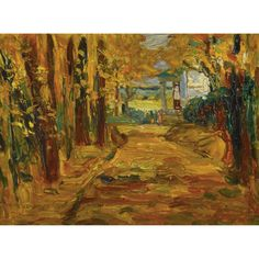 Park von St. Cloud-Herbst I, 1906, Wassily Kandinsky. (1866 - 1944) - Oil on Board -