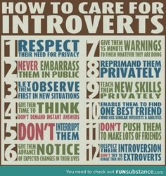 How to take care for introverts