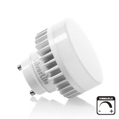 Silverlite 9w LED Mini Puck GU24 Light Bulb Triac Dimming,18w Low Profile Spring CFL Equivalent,50000hr,850LM,Cool White(5000K),120V,Suitable for Totally Enclosed Indoor&Outdoor Fixture,UL Listed