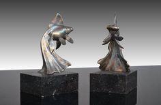 G. Garreau bronze bookends pair Chinese fishes - Art Deco circa 1930