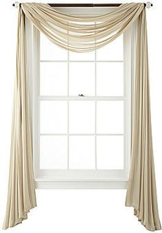 Royal Velvet Cherise Sheer Scarf Valance on shopstyle.com