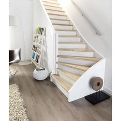 New Stairs Entrance Stairways Basements Ideas Stair Shelves, Stair Storage, Interior Stair Railing, Staircase Design, Wooden Stairs, Room Additions, Secret Rooms, House Stairs, Interior Exterior