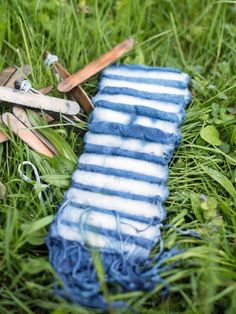 Make a Beautiful Shibori-Style Scarf Using Natural Indigo Dye | HGTV >> http://www.hgtv.com/design/make-and-celebrate/handmade/make-a-beautiful-shibori-style-scarf-using-natural-indigo-dye?soc=pinterest