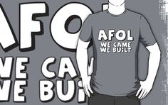 """""""AFOL 'We Came, We Built' by Customize My Minifig"""" T-Shirts & Hoodies by ChilleeW 