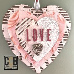love wall hanging tattered angels canvas corp mixed media
