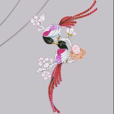 Design by @annahu_hautejoaillerie #jewelry #jewellery #jewelryrendering…