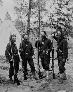 The 4th Regiment Michigan Volunteer Infantry was an infantry regiment that served in the Union Army during the American Civil War. The 4th Michigan wore a very americanized zouave uniform. This uniform consisted of a federal dark blue sack coat, dark blue chasseur trousers, tan gaiters, and a maroon zouave fez with a light blue tassle.