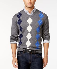 Club Room Argyle Sweater, Only at Macy's