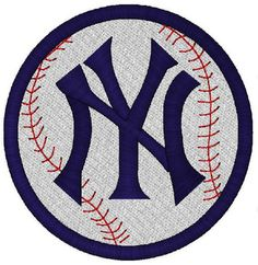 NY Yankees Baseball Team Logo Machine by geosembroiderydesign for present