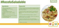 Receta práctica, fácil y nutritiva con pasta.