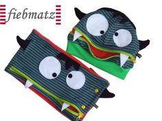 Mützen - Monster Freche MÜTZLI Vampir Mütze - ein Designerstück von Fiebmatz bei DaWanda